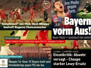 【德甲今日头条】欧冠八强战拜仁2-3败给大巴黎!沙尔克惊传负债超2亿欧元